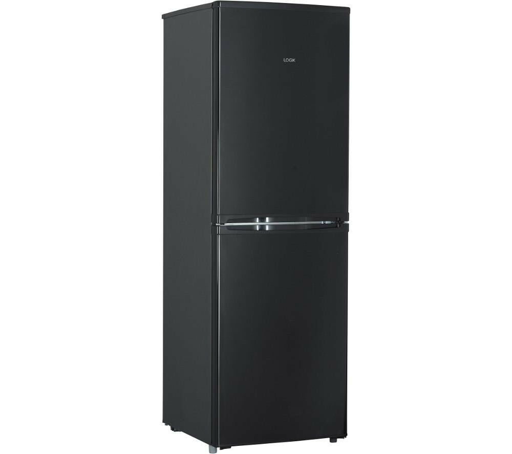 logik lfc50b14 fridge freezer a frost free black picclick uk. Black Bedroom Furniture Sets. Home Design Ideas