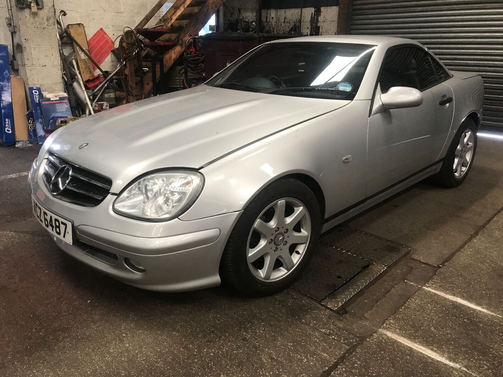 mercedes benz slk 230 convertible hard top 1998 private plate spares or repairs. Black Bedroom Furniture Sets. Home Design Ideas
