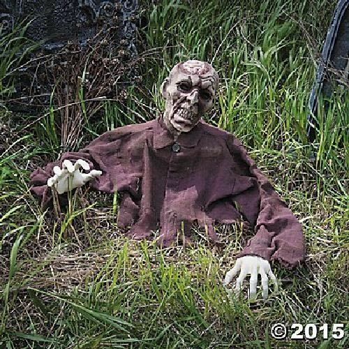 hot scary halloween props life size brain zombie ground breaker outdoor 1 of 2free shipping