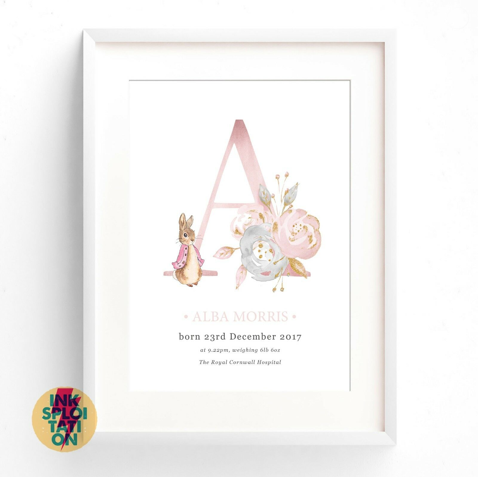 Beatrix Potter Baby Gifts Australia : Personalised peter rabbit gift nursery christening new