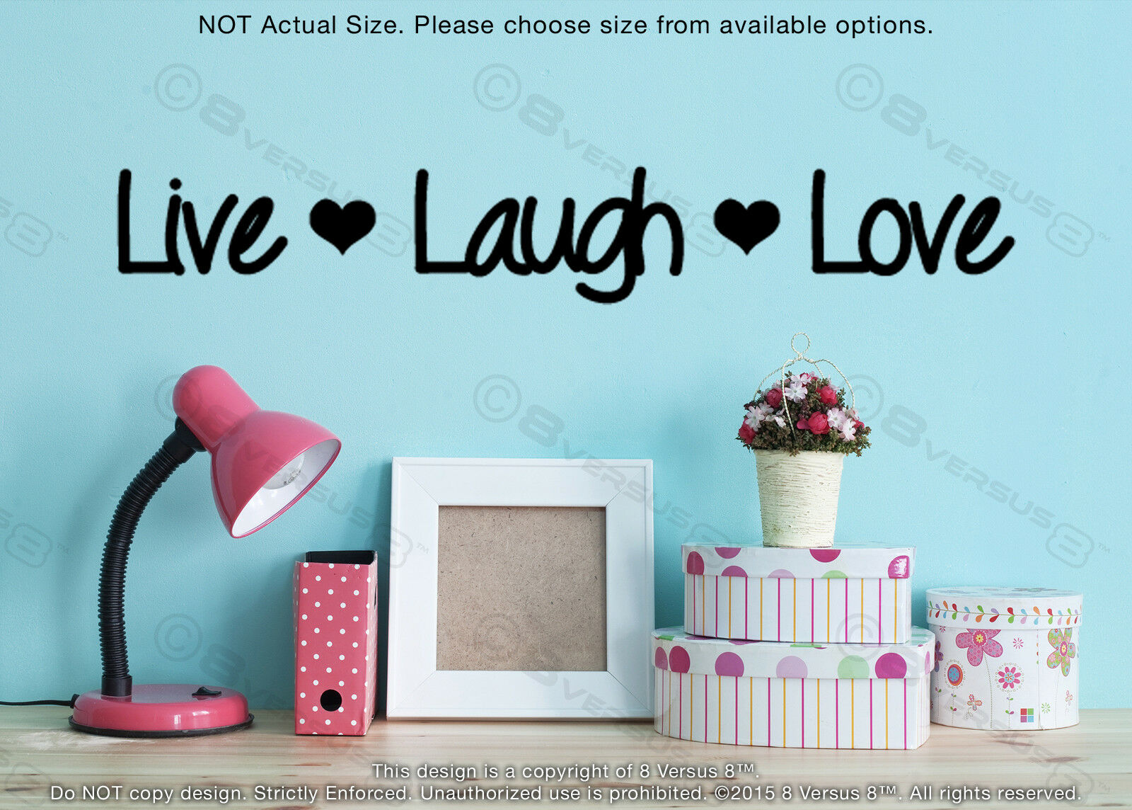 Live Laugh Love Wall Decal Removable Vinyl Indoor Sticker