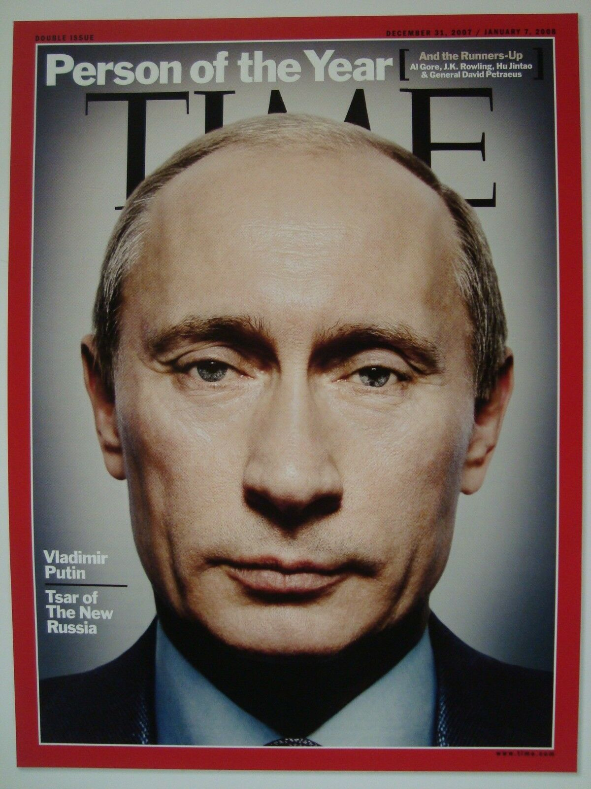 VLADIMIR Putin Person Of The Year Time Magazine Cover Page ...