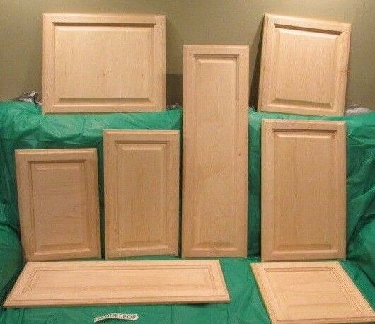 solid wood maple unfinished raised panel kitchen cabinet door