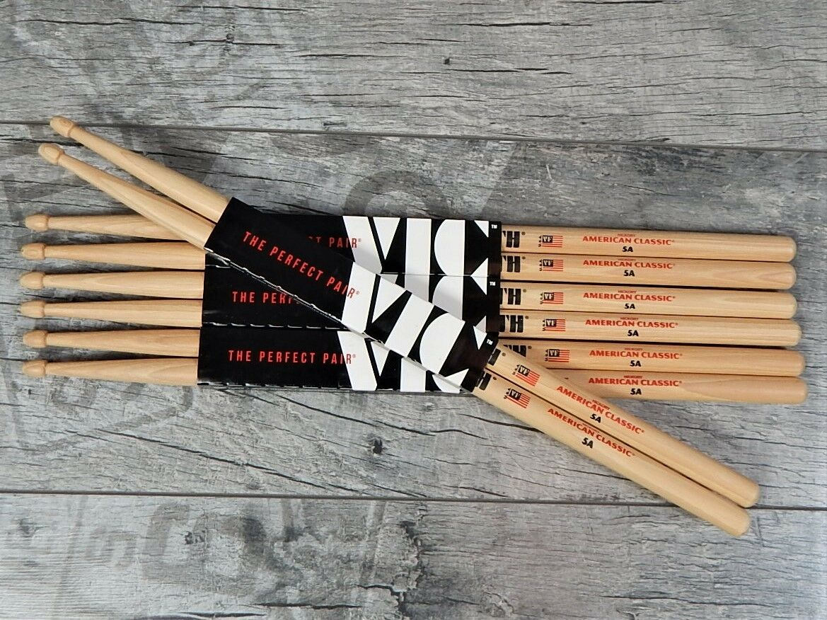 4 paar vic firth 5a american classic usa hickory for American classic usa