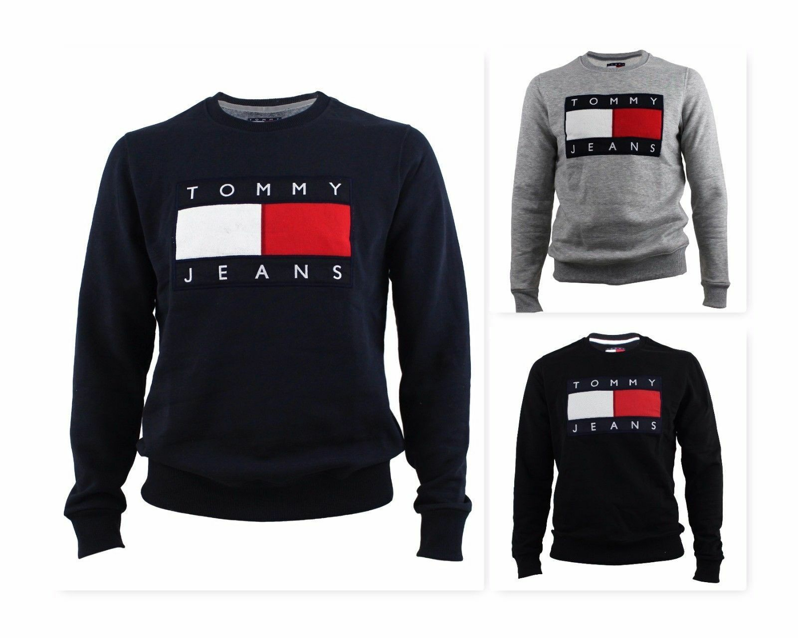 tommy hilfiger 90s jeans herren sweatshirt pullover hoodie s xxl original eur 54 99 picclick de. Black Bedroom Furniture Sets. Home Design Ideas