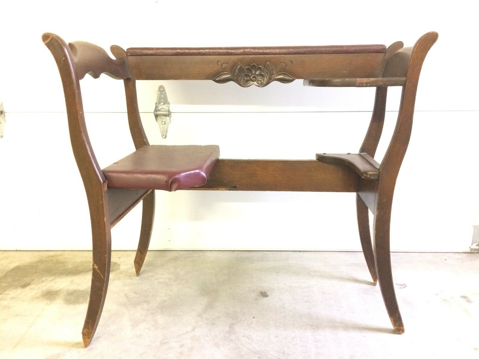 1 of 8Only 1 available ...  sc 1 st  PicClick & ANTIQUE VINTAGE TELEPHONE Table Seat Gossip Chair Phone Bench ...