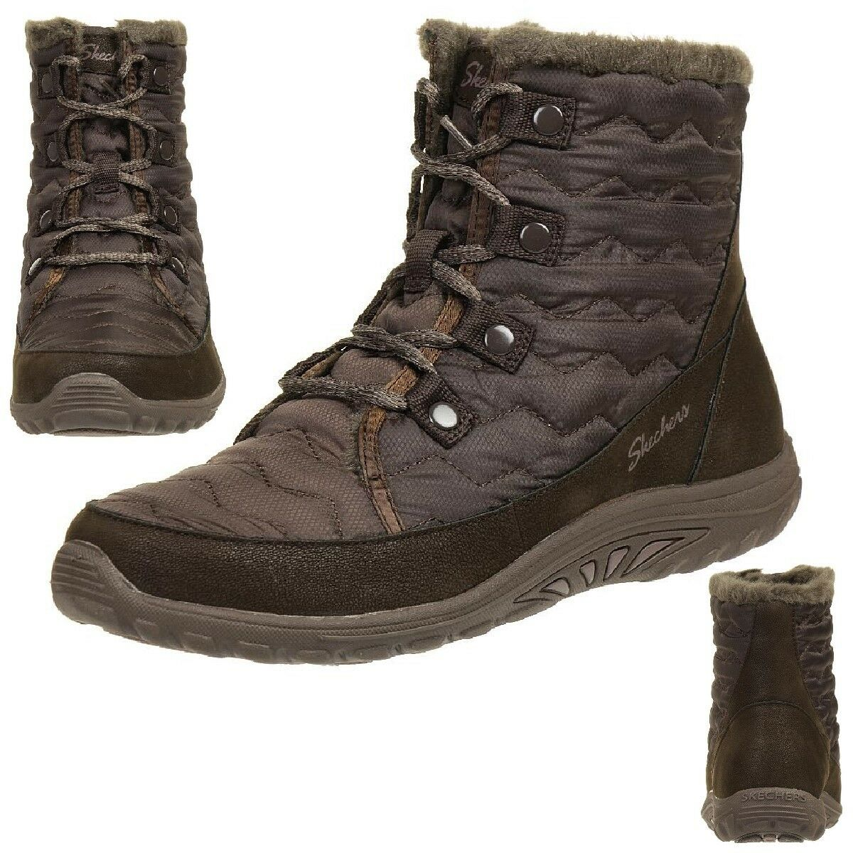 skechers reggae fest vector stiefel damen winterschuhe gef ttert choc eur 49 95 picclick de. Black Bedroom Furniture Sets. Home Design Ideas