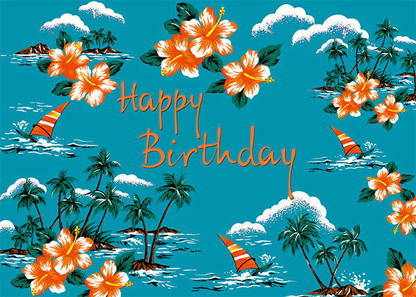 4 greeting cards hawaiian happy birthday leisurely hawaii 998 4 greeting cards hawaiian happy birthday leisurely hawaii 1 of 2 4 greeting cards hawaiian m4hsunfo