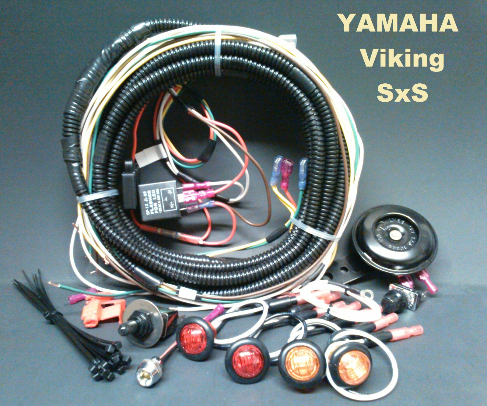 Key Switch Wiring Diagram Yamaha Viking Trusted Diagrams Turn Signal Horn Kit Sealed Loomed Harness Outboard