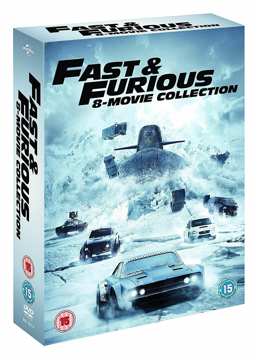 fast and furious full movie 1 8 complete eight movie collection dvd box set new. Black Bedroom Furniture Sets. Home Design Ideas