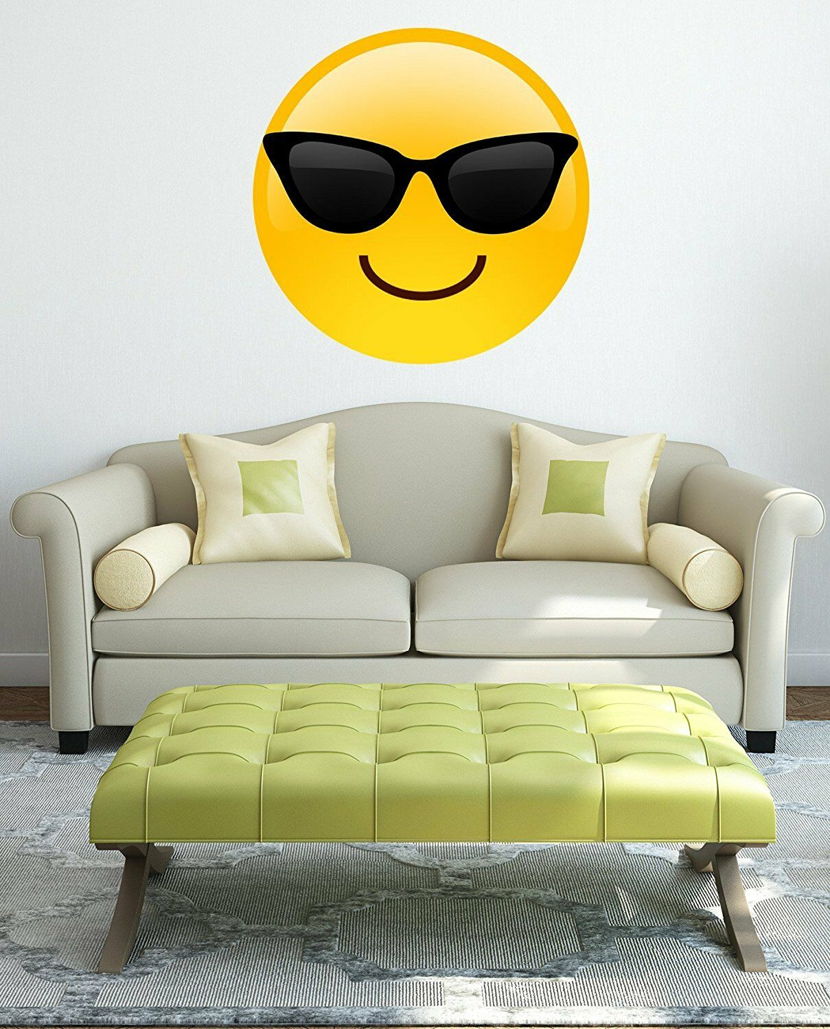 EMOJI EMOTICON WALL Art Vinyl Self Adhesive Sticker Decal Print ...