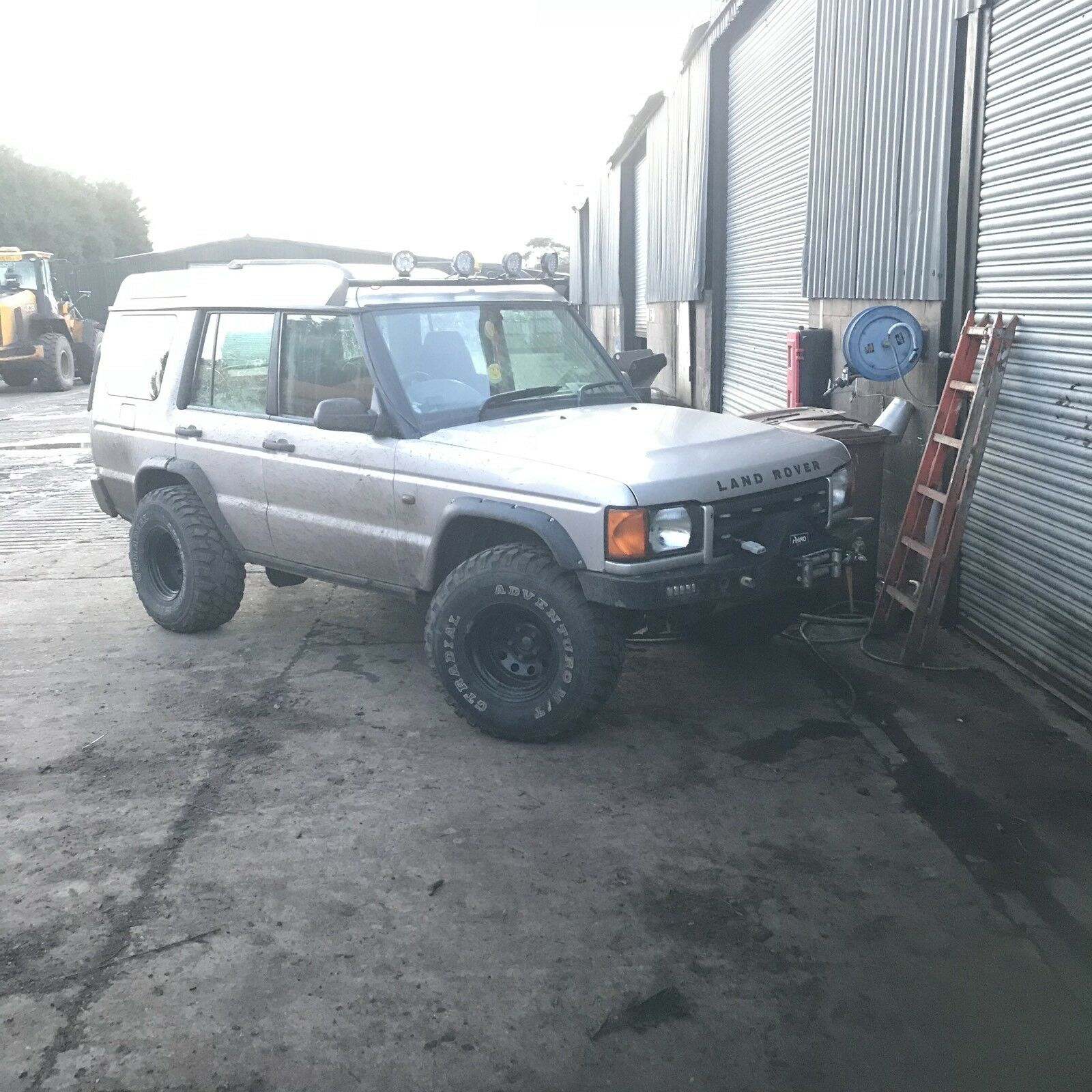 landrover off defender rover scooped discovery with parts sport for fibreglass road bonnet grp grill land masai