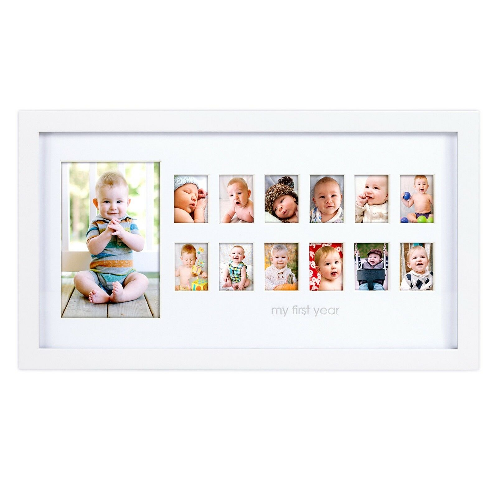 MY FIRST YEAR Baby Picture Frame 12 Month Photo Frame Photo Baby ...