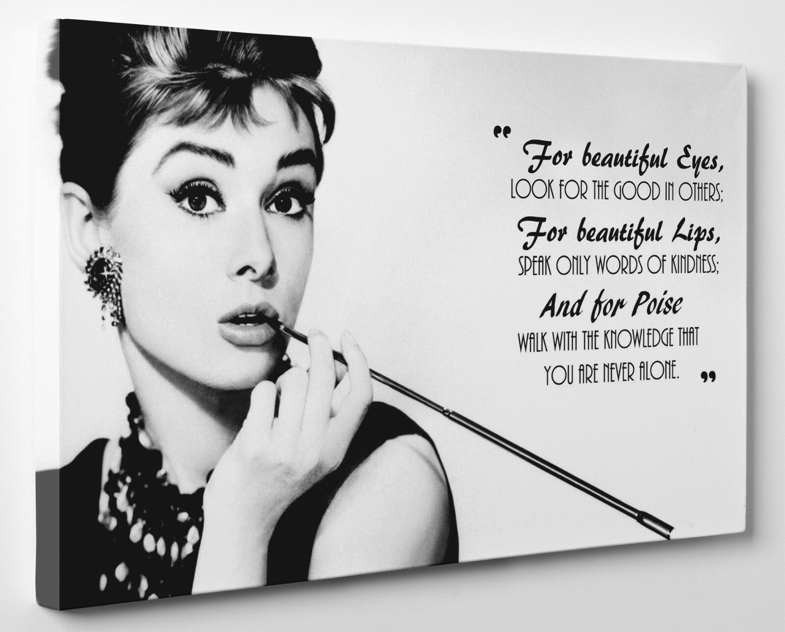 ICONIC AUDREY HEPBURN Quote Canvas Print Wall Art Ready To Hang ...
