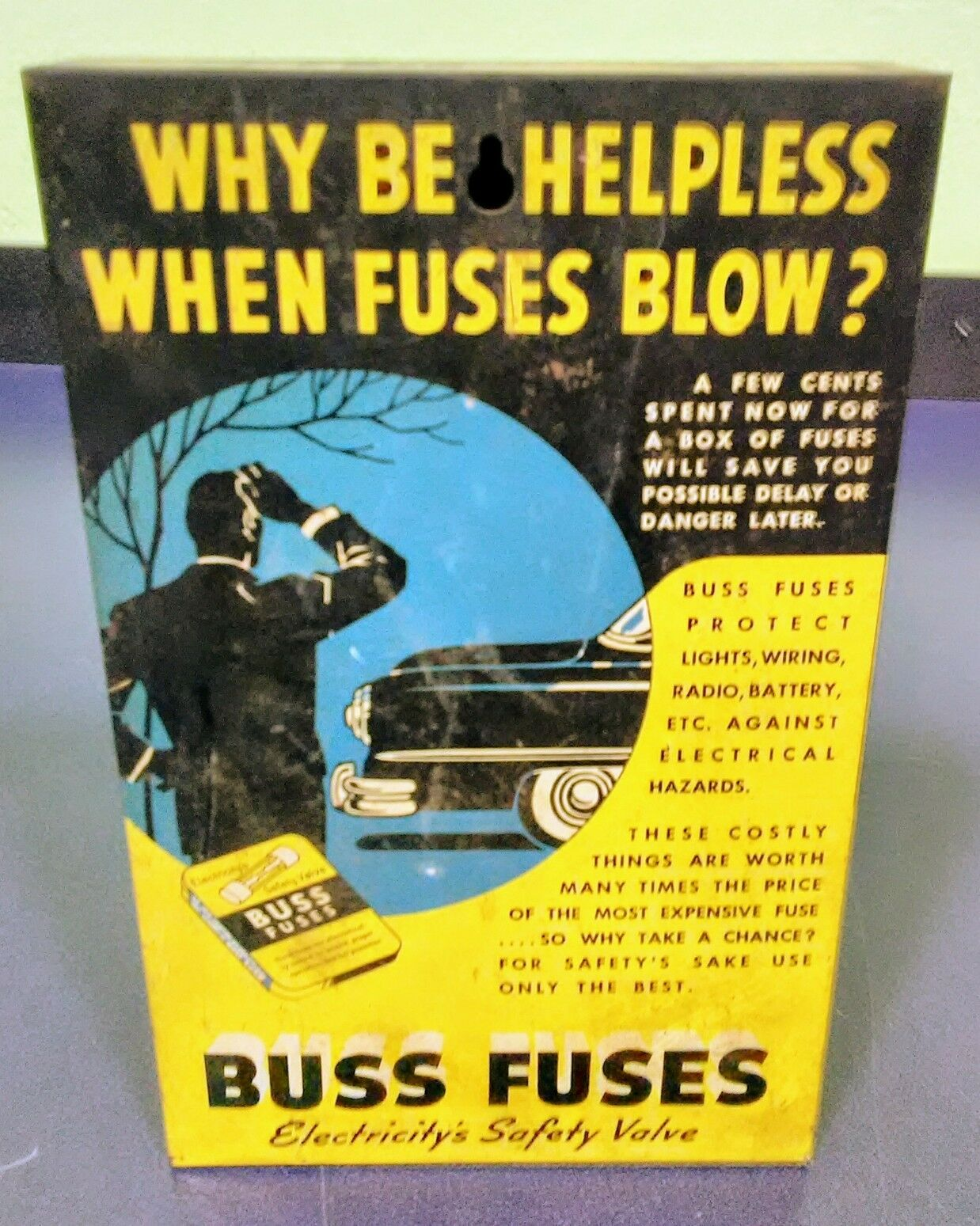 Vintage Automotive Buss Glass Tube Fuses Advertising Metal Store Fuse Box Ads 1 Of 3free Shipping
