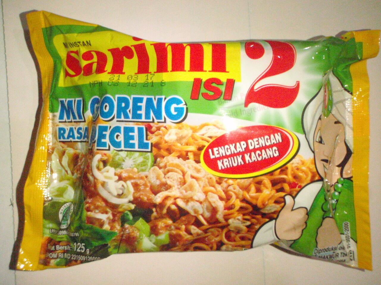 6 Pcs Sarimi Noodle Mi Goreng Rasa Pecel Jumbo Size Free Airmail Samyang Hot Spicy Chicken Isi 5 1 Of 8only Available
