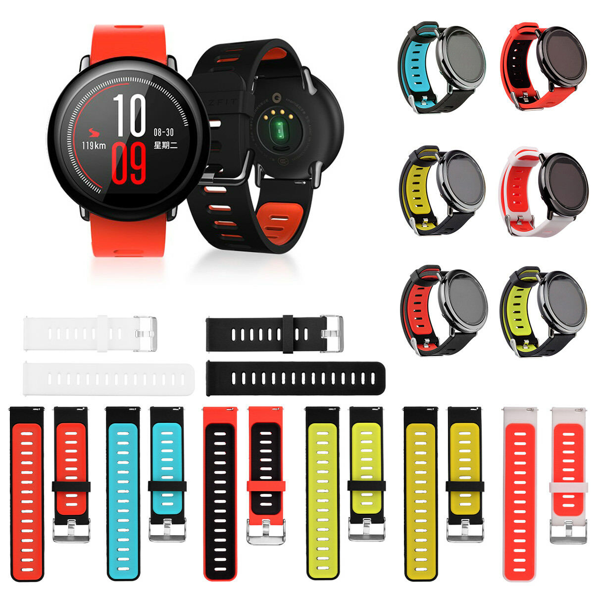 SPORTS REPLACEMENT SILICONE Strap Band For Xiaomi HUAMI ...