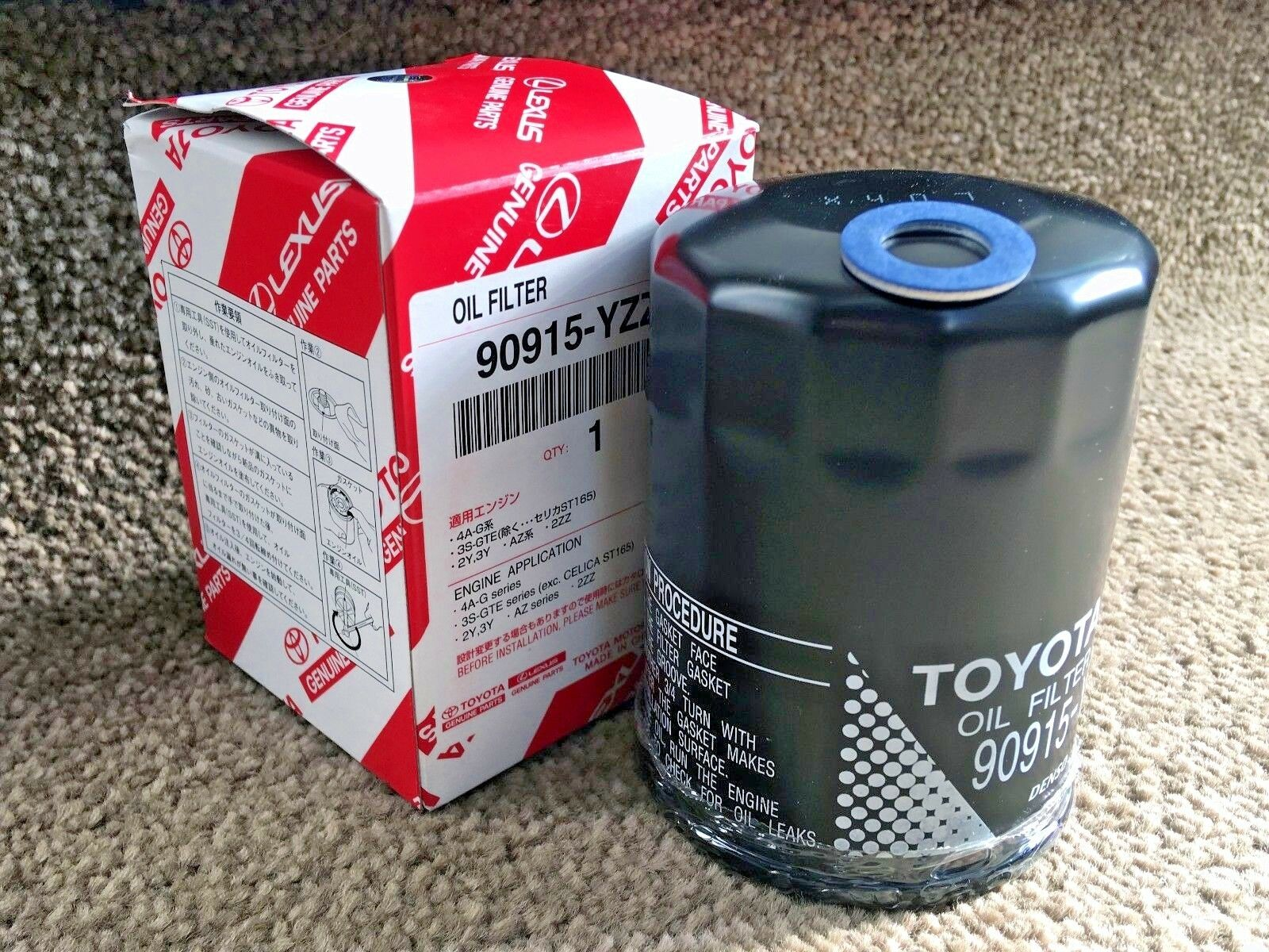 New Genuine Toyota Corolla 2001 T Sport Engine Oil Filter 18 2zzge Free Washer 1 Of 1free Shipping
