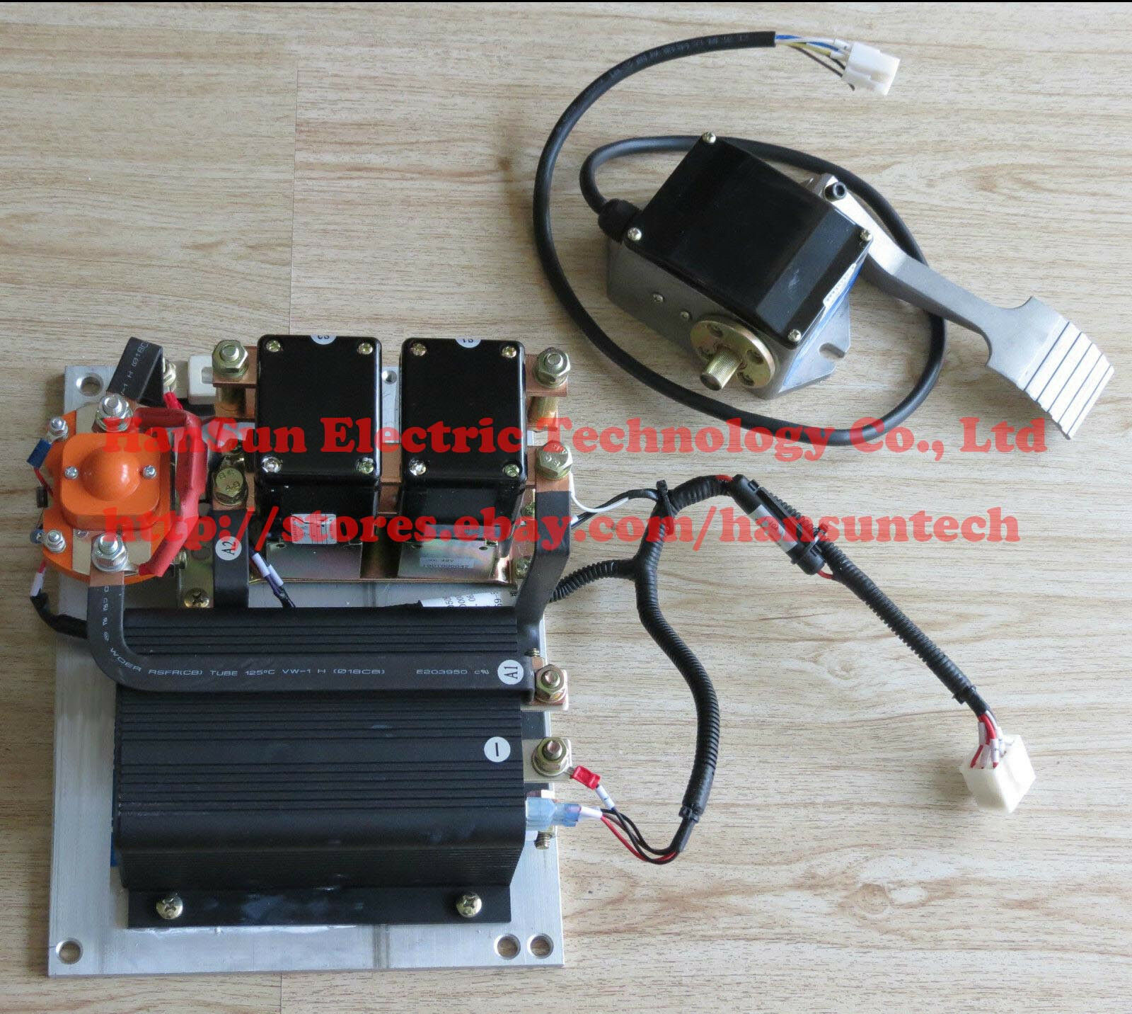 Curtis 36v 48v 1205m 5603 500a Controller Assemblage With Foot Wiring Diagram 48 Volt Golf Cart 1 Of 10only Available
