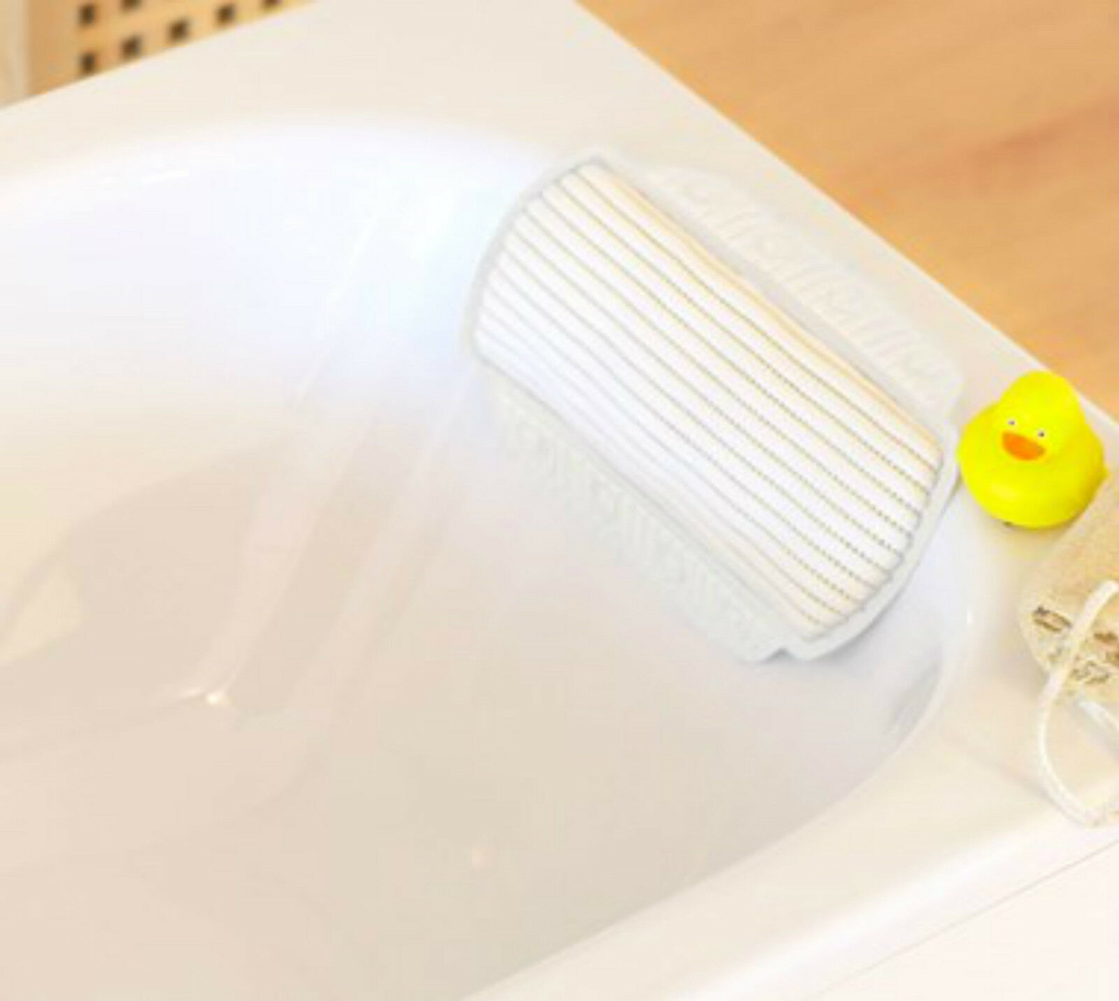 CUSHIONED LARGE Bath Pillow / Head Support With Suction Cups ...