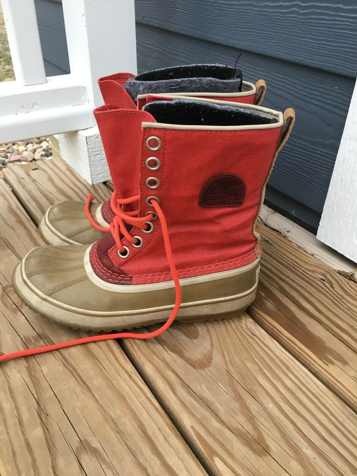 sorel womens 1964 premium cvs snow boot candy apple red 7 us