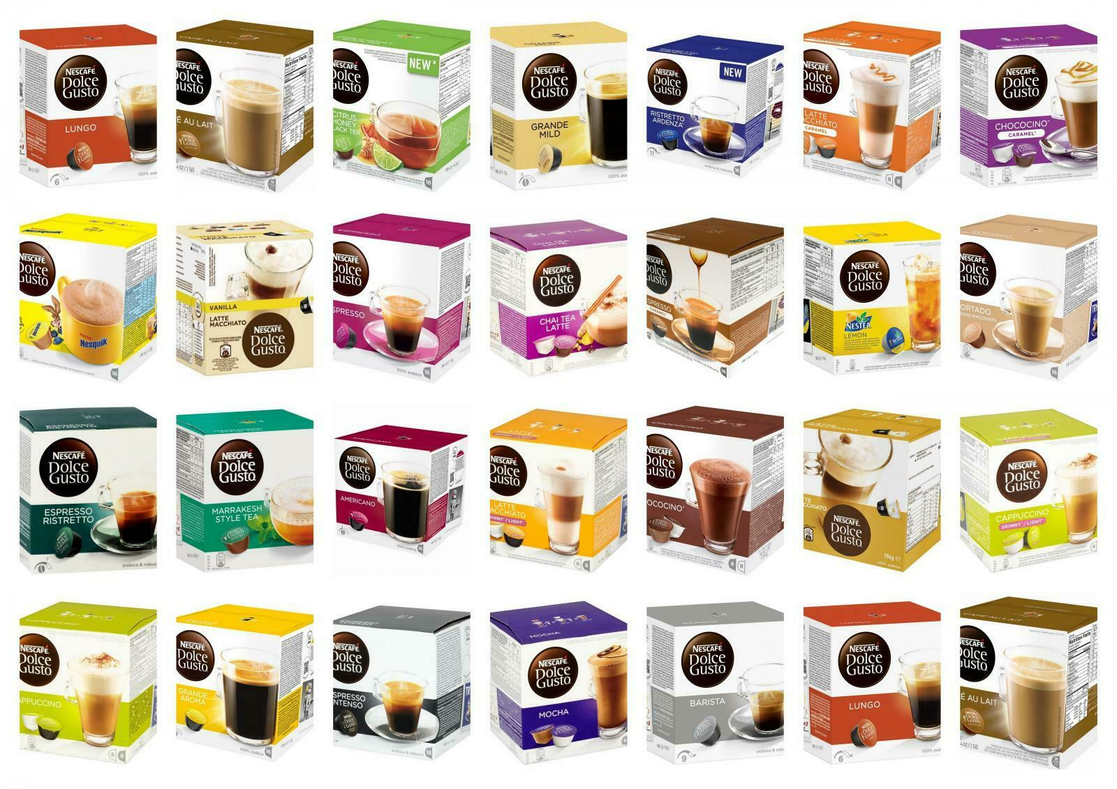 NESCAFE DOLCE GUSTO Coffee Pods Capsules - MULTI LISTING - Large Selection - £6.95 | PicClick UK