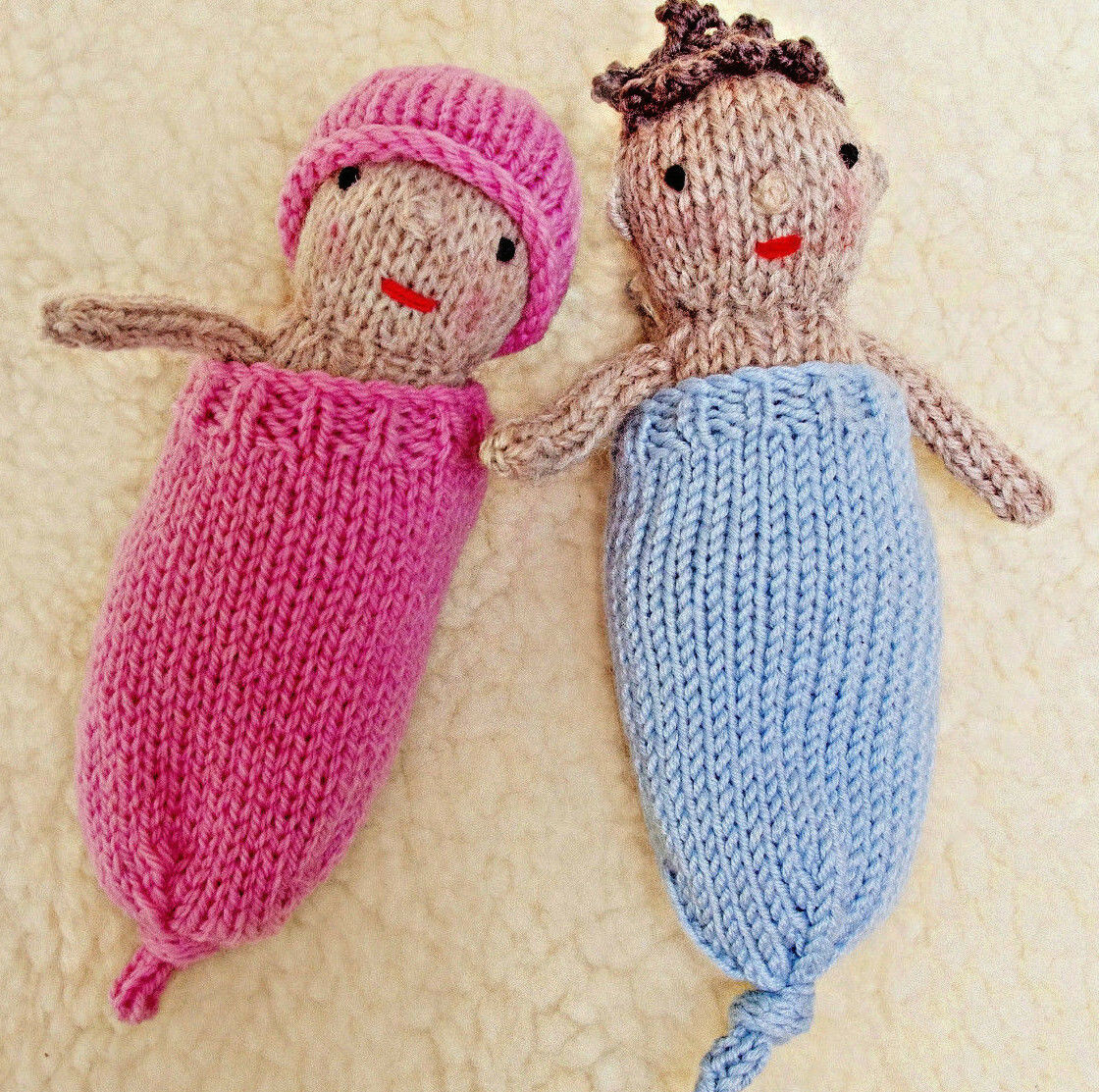 KNITTING PATTERN BABY Doll Toy Knitted Rabbit Knit Gift Knit ...