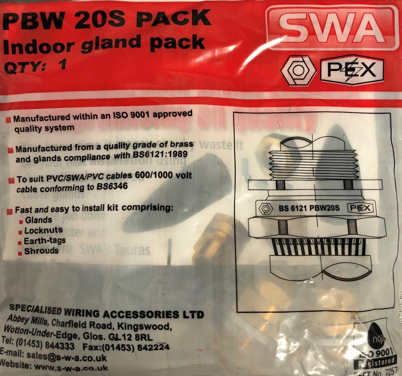 Heavy Duty Pex Swa Branded Armoured Cable Gland Pack Bw20s2025 Wiring Bw20s20 1 Of 8free Shipping See More