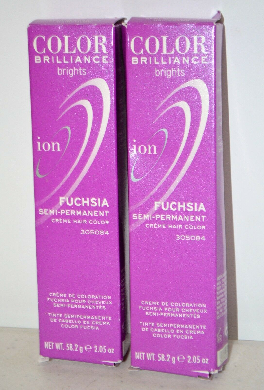 Lot Of 2 Ion Color Brilliance Brights Fuschia Semi Permanent Hair