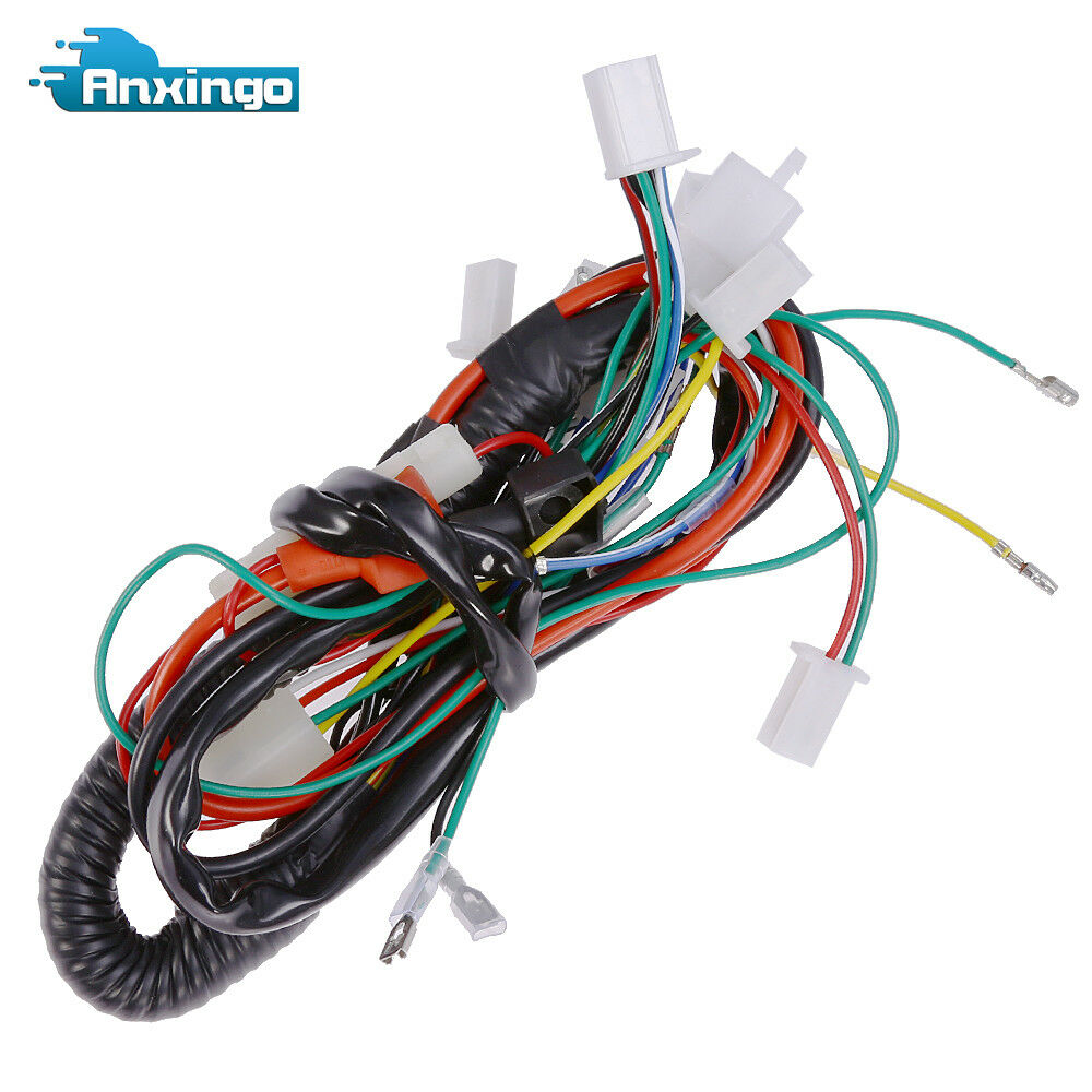 Electric Wiring Harness For Chinese Atv Utv Go Kart Taotao 50 70 90 Wire Bundle 1 Of 6free Shipping