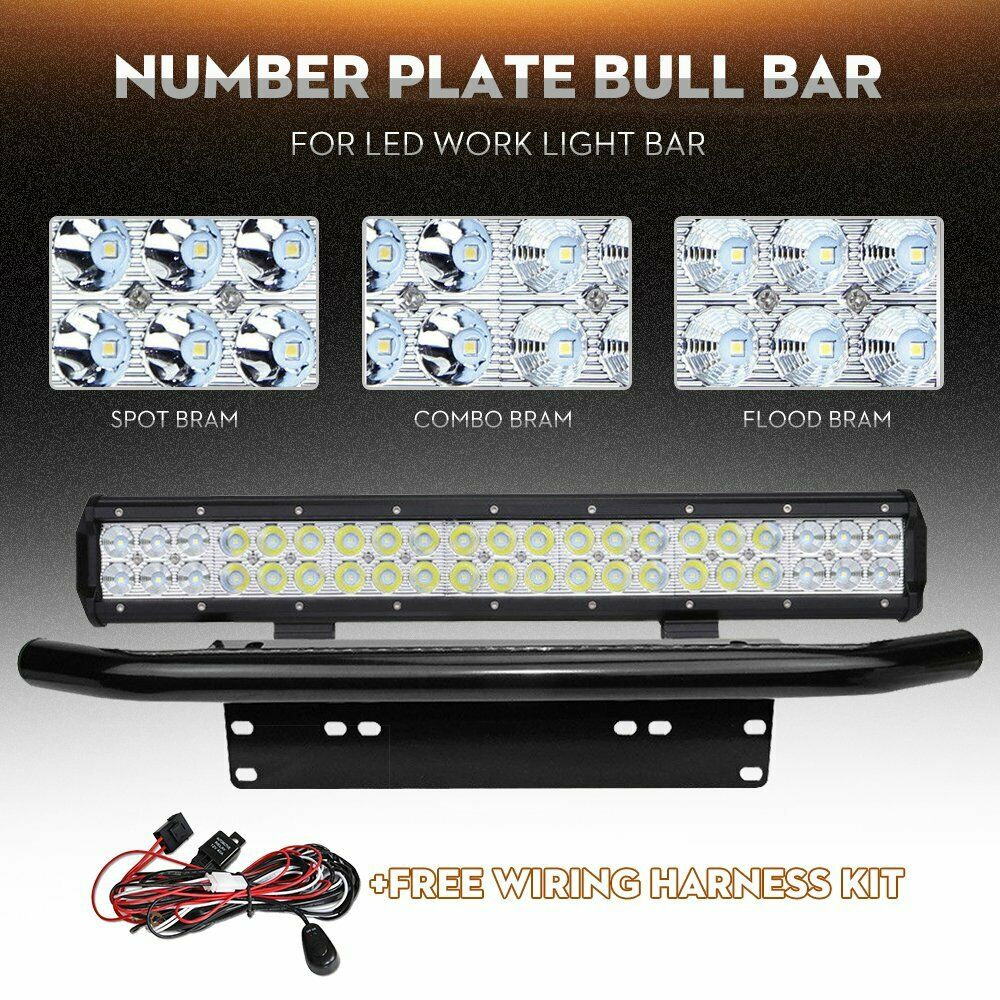 20inch Led Light Bar Combo Number Plate Frame Mount Bracket License Accessories 12v 40a Hid Driving Wiring Harness Kit 1 Of 12only 5 Available