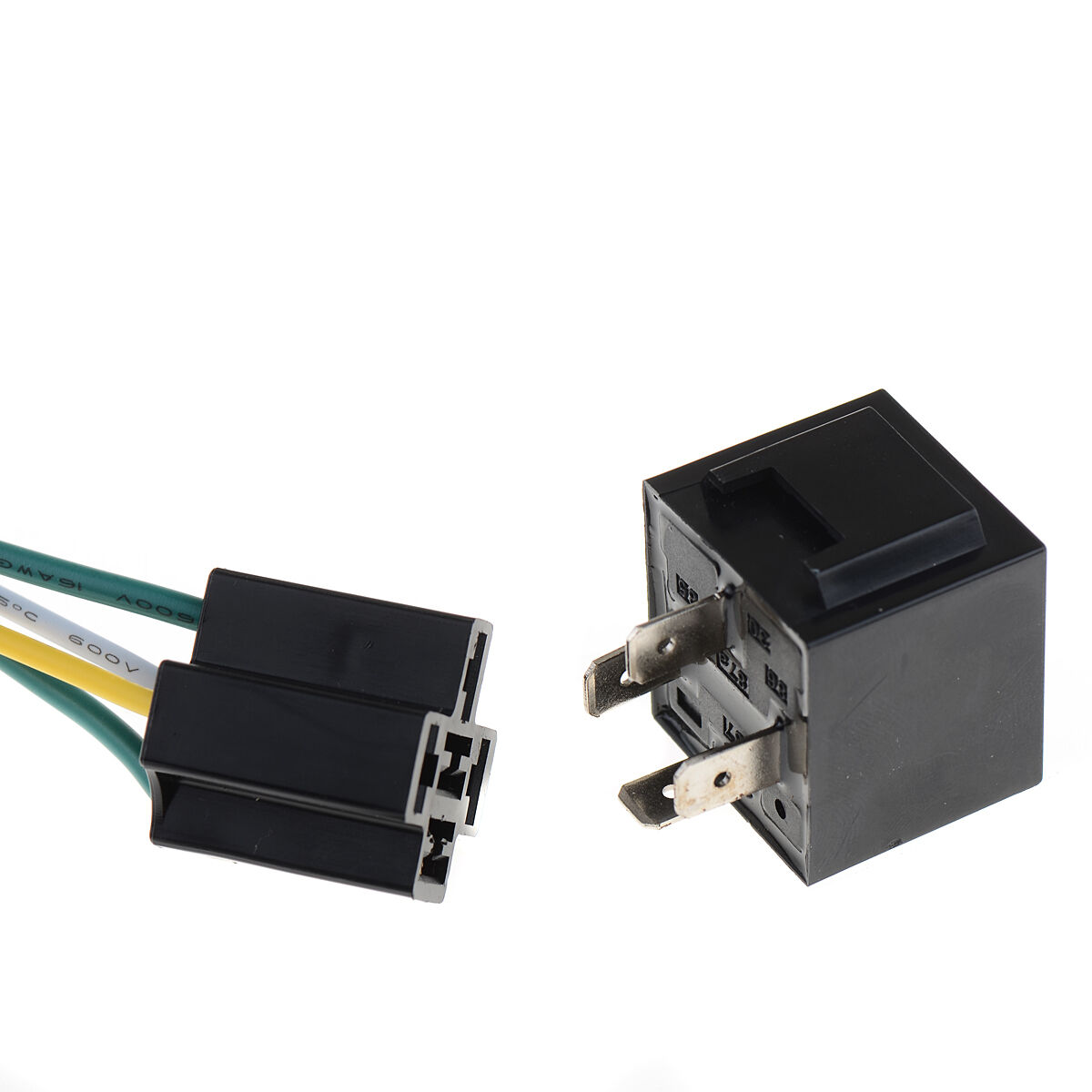 12v 40a Auto Automotive Relay Socket 40 Amp 4 Pin Wires Tool Prong Pigtail Kit