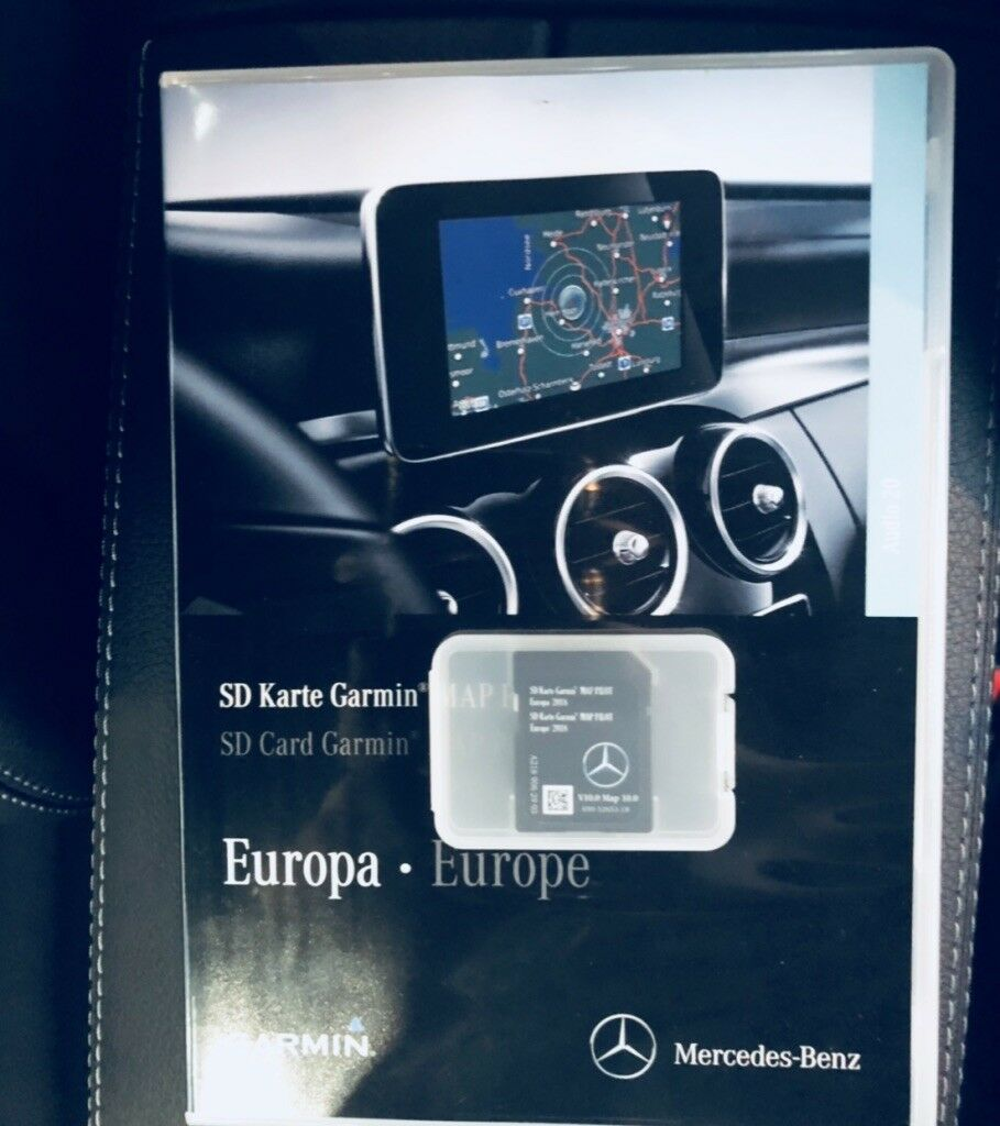 2019 mercedes garmin map pilot sd card sat nav a b cla e. Black Bedroom Furniture Sets. Home Design Ideas