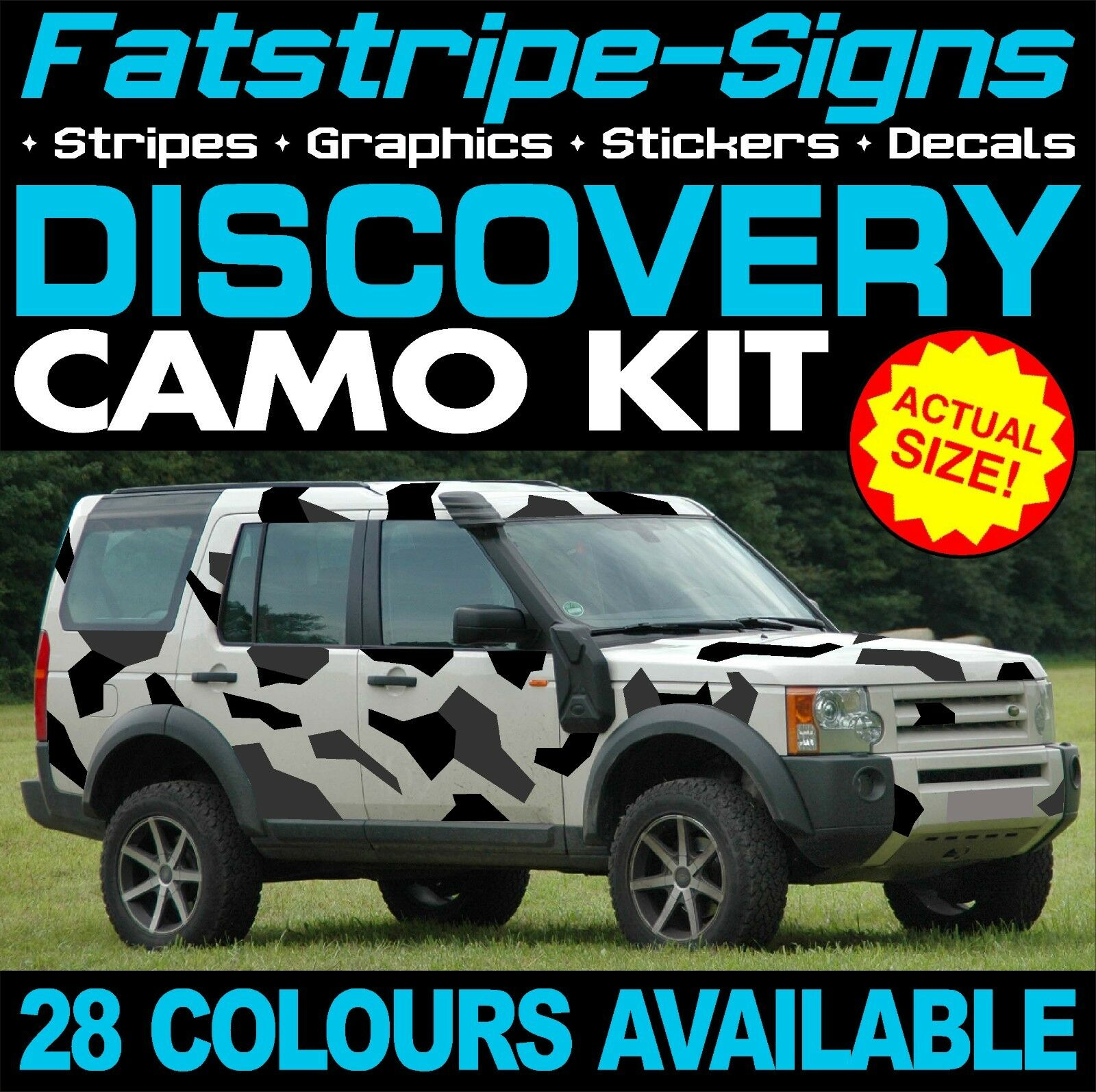 Landrover Discovery Side Stripe Decals Stickers Land Rover: LAND ROVER DISCOVERY GRAPHICS CAMO STICKERS DECALS