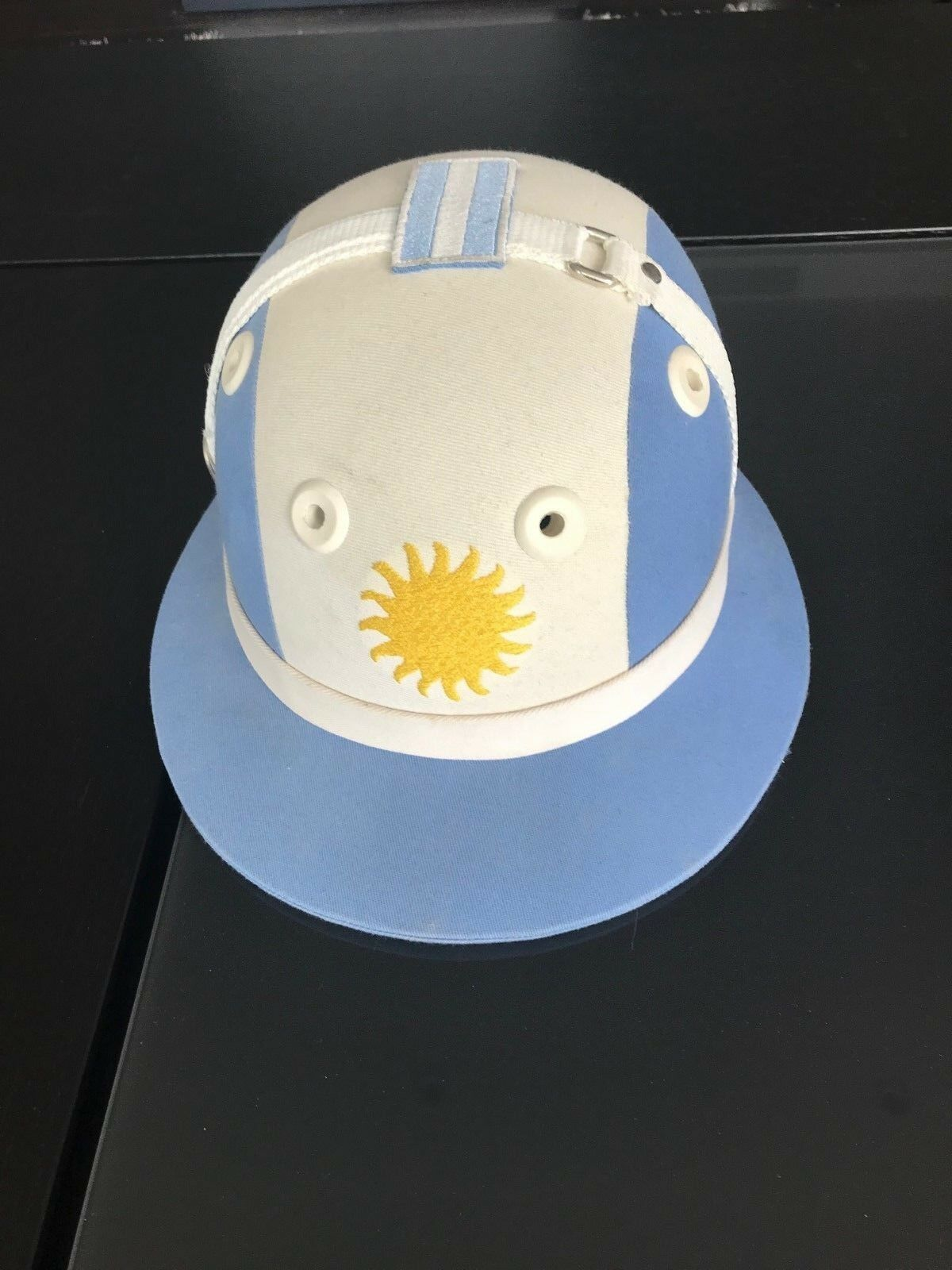 Polo Helmet With Argentinian Flag Colours Argentina 6500