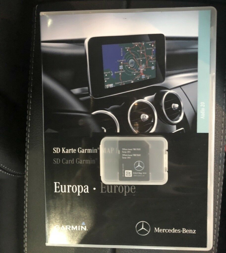 2018 genuine mercedes benz sd card c class garmin map. Black Bedroom Furniture Sets. Home Design Ideas