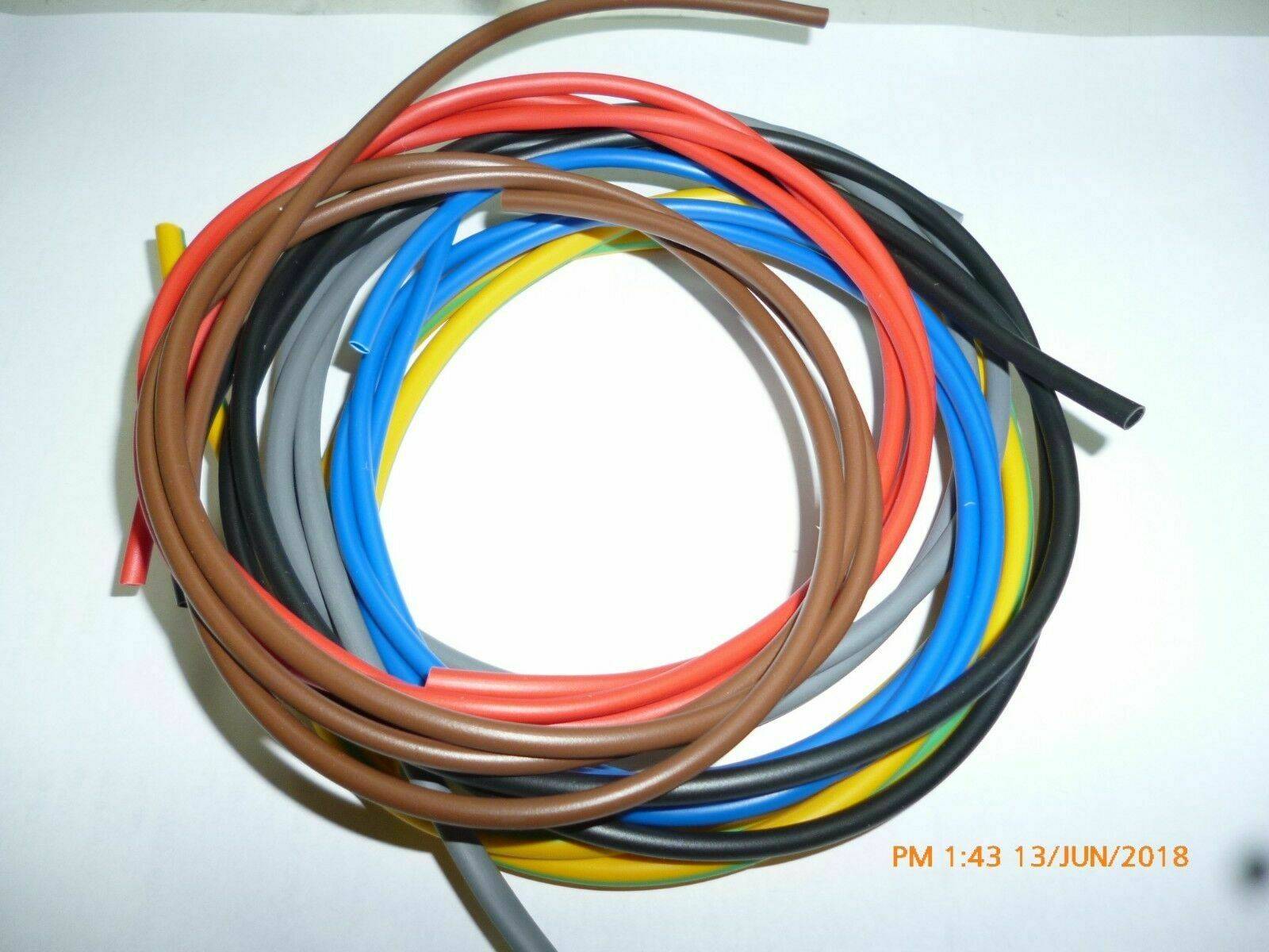 Electrical Pvc Sleeving 3mm 4mm 6mm Wire Cable Earth Brown Red Blue Motorcycle Wiring Harness Tubing 1 Of 1free Shipping