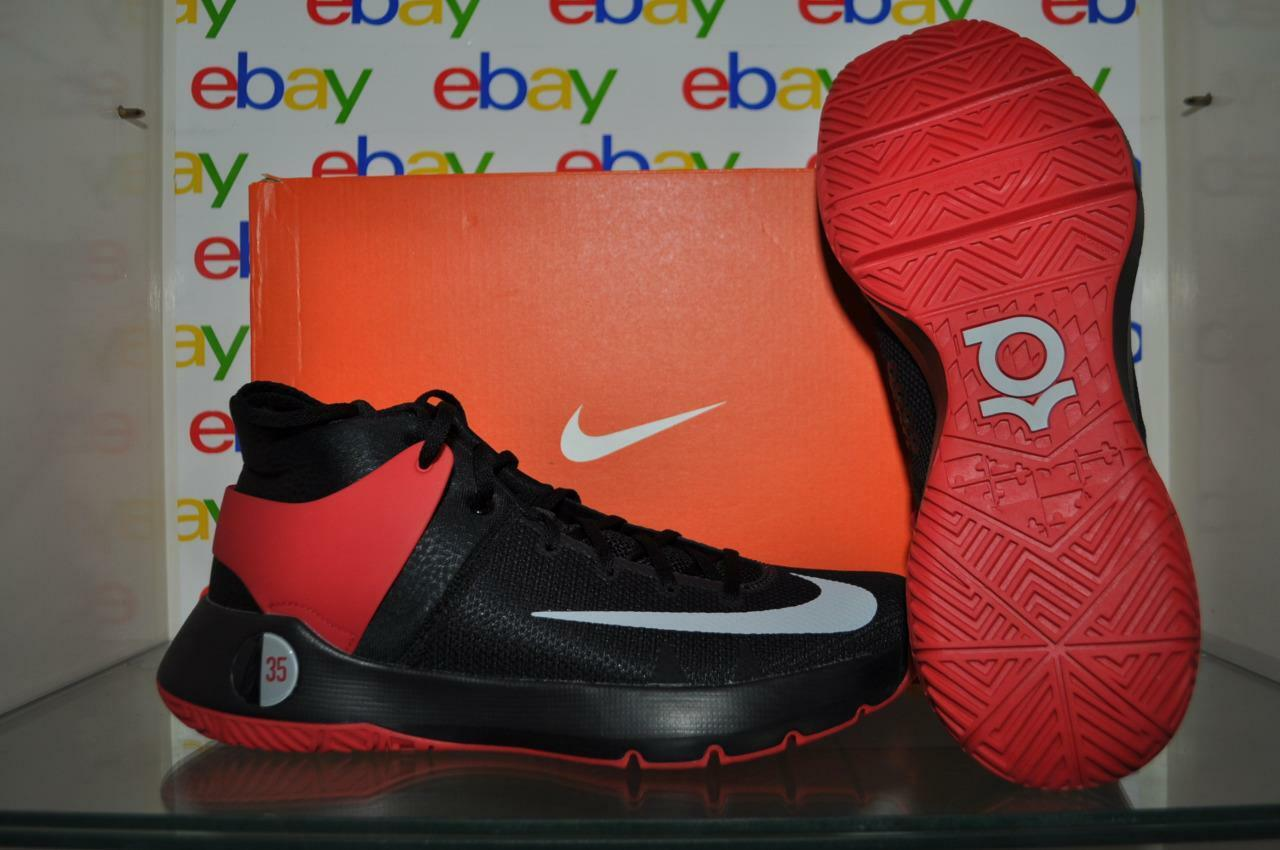 official photos 1ddf6 ba4f4 Nike KD Trey 5 IV 844571 600 Mens Basketball Shoes Black Red NIB 1 of 2Only  3 available ...