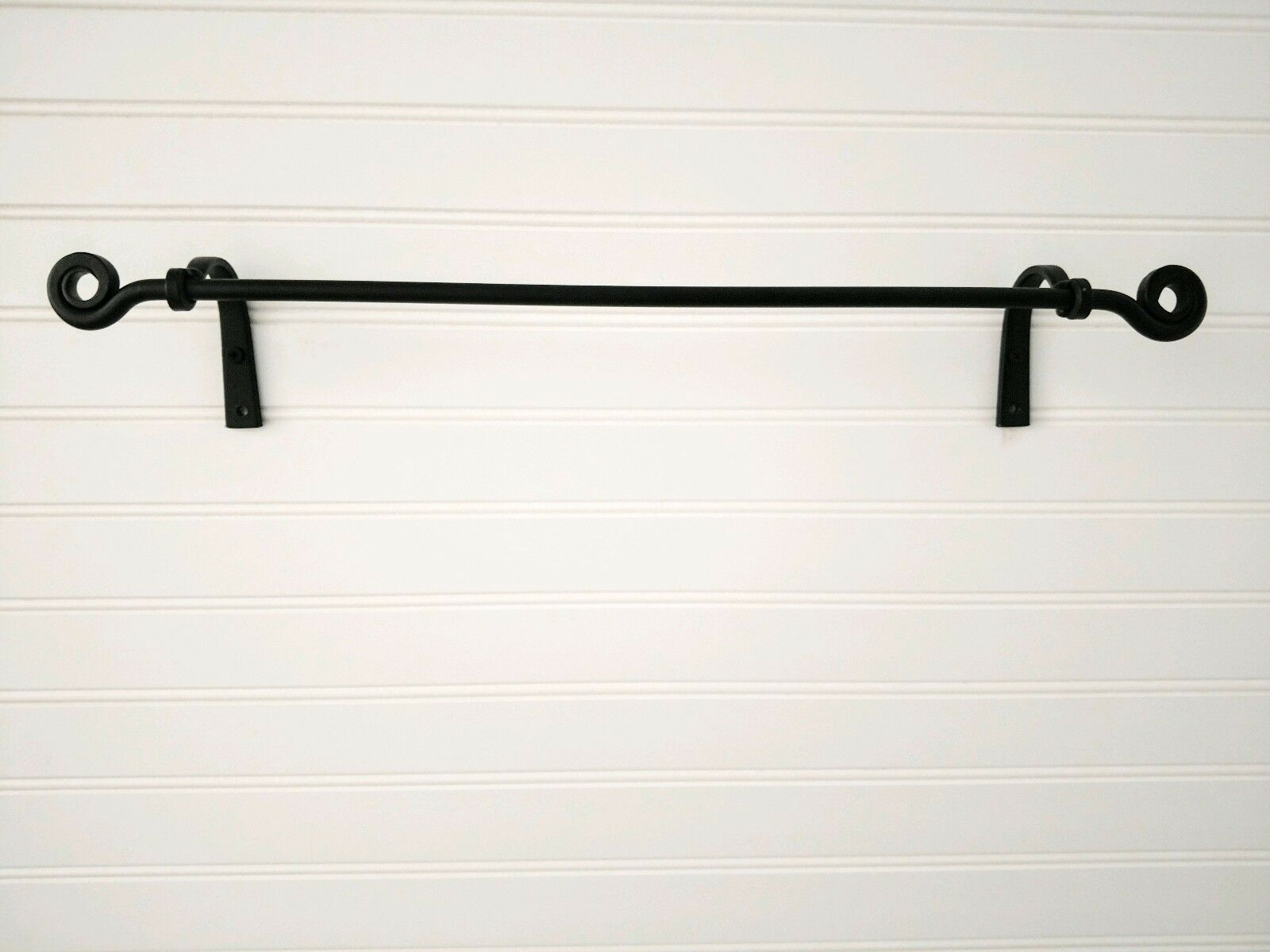 Amish Forged Wrought Iron Small Towel Bar Strong Sy Hand Crafted Metal 1 Of 12only 4 Available