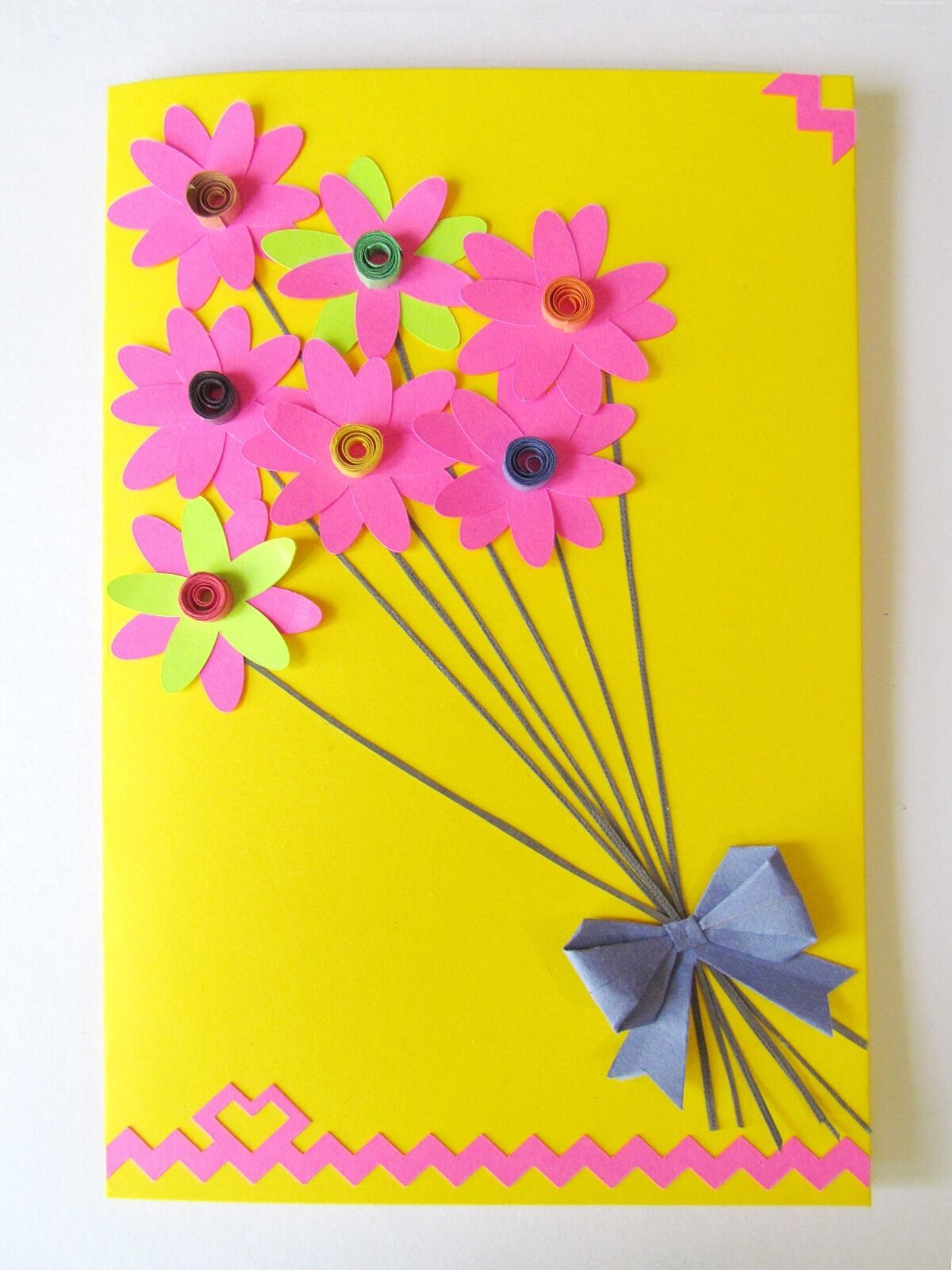 Diy Happy Birthday Handmade Greeting Cards Flower Birthday Cards