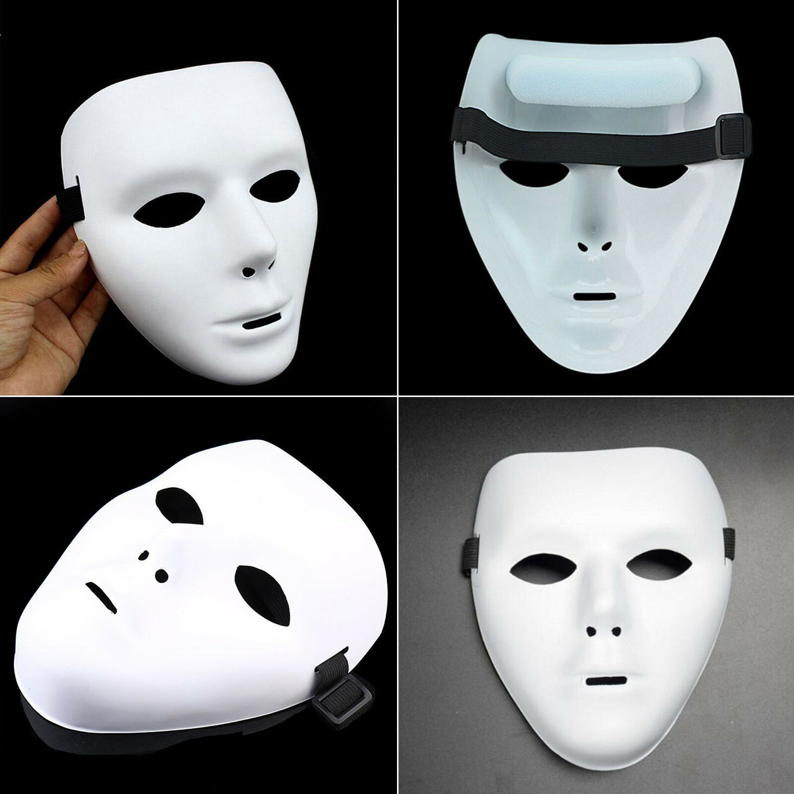 white face mask halloween party masks hip-hop ghost dance