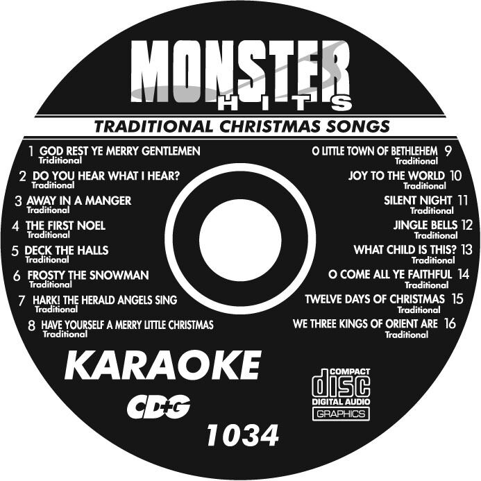 KARAOKE MONSTER HITS Cd+G Traditional Christmas Songs #1034 - $8.99 ...