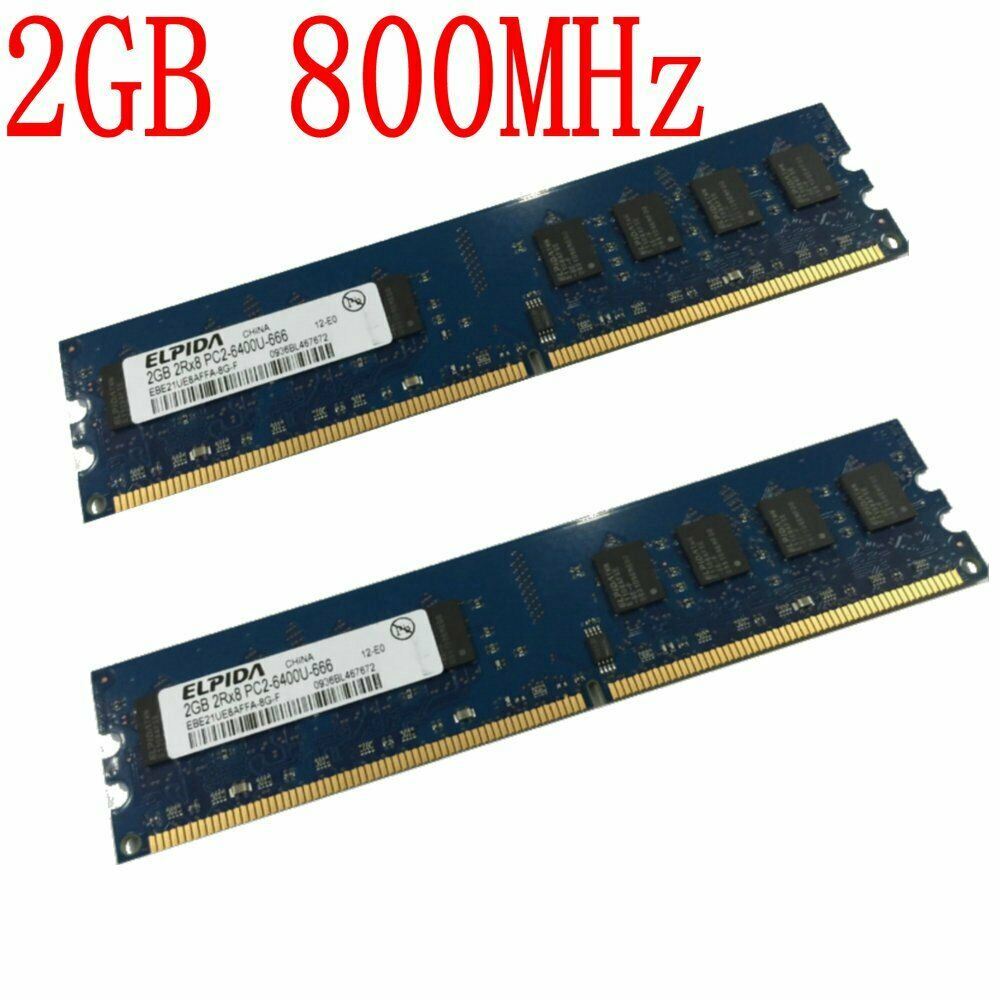4gb 2x 2gb 1gb Pc2 6400u Ddr2 800 Low Density Desktop Memory For Ram Pc6400 Amd System Only 1 Of 11only 5 Available