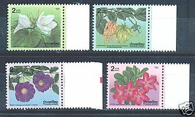 THAILAND 1995 FLOWERS 4 STAMPS SET  MNH