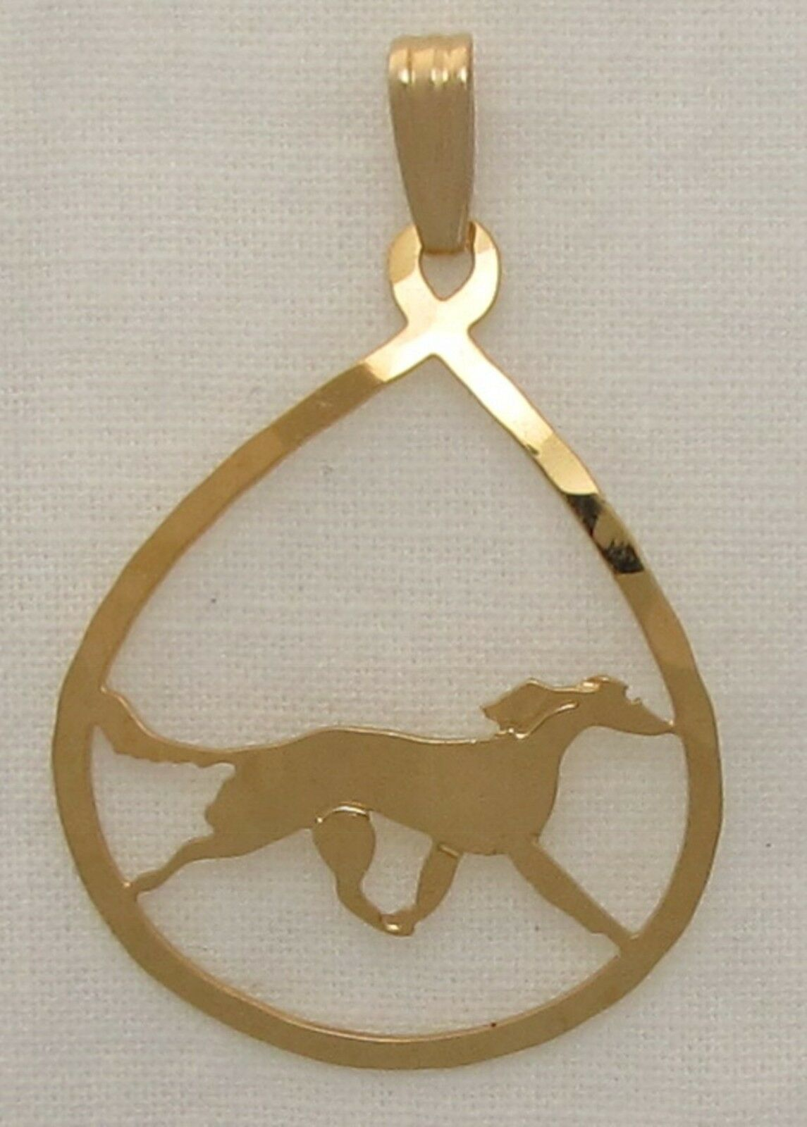Saluki Jewelry Gold Pendant for Necklace by Touchstone