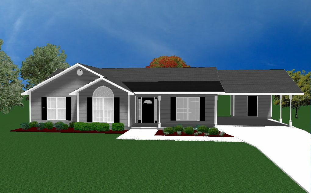 House Plans For 1490 Sq Ft 3 Bedroom House W Carport
