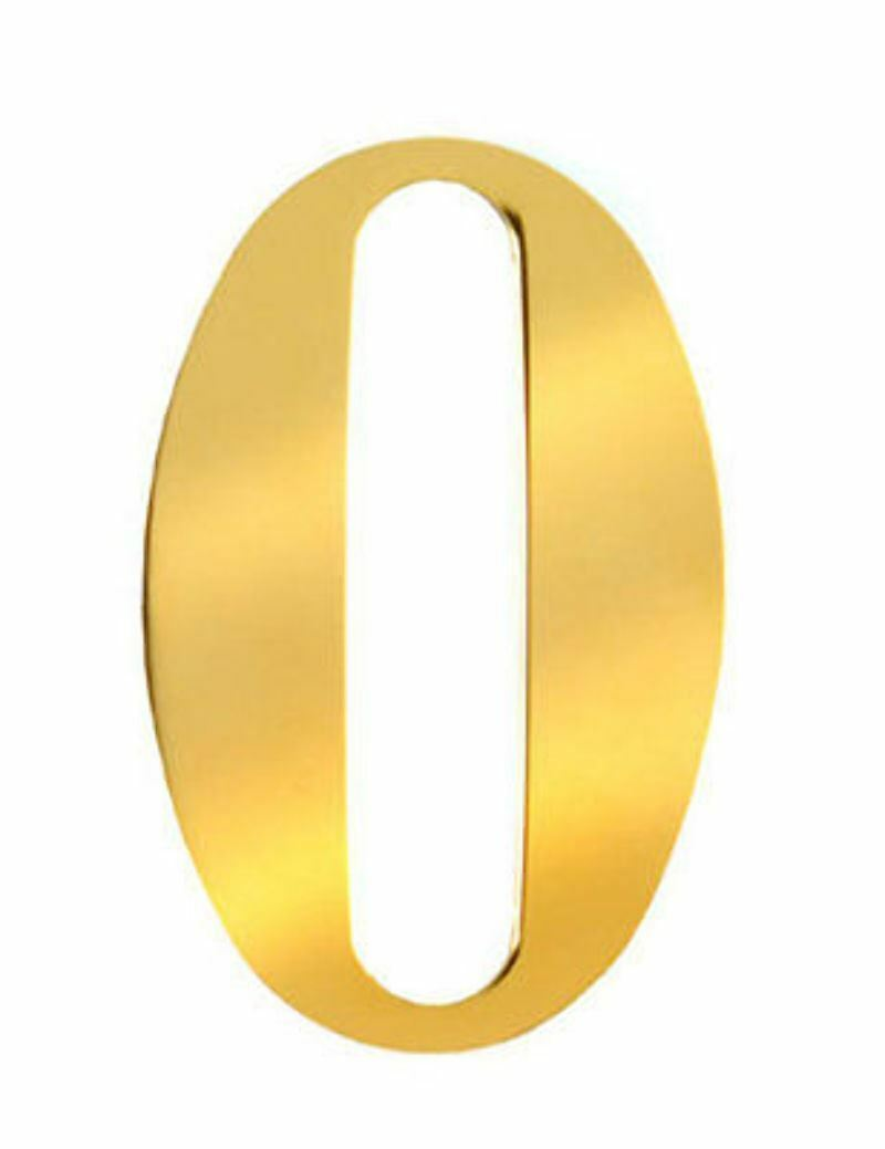 3 inch anodised gold self adhesive house numbers for Self adhesive house numbers and letters