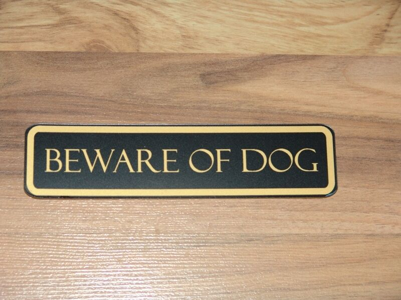 Beware Of Dog Sign Front Door Signs Engraved Many Color 695