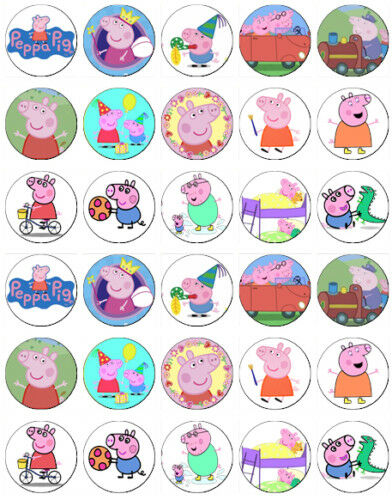 Peppa Pig Fairy Cake Toppers
