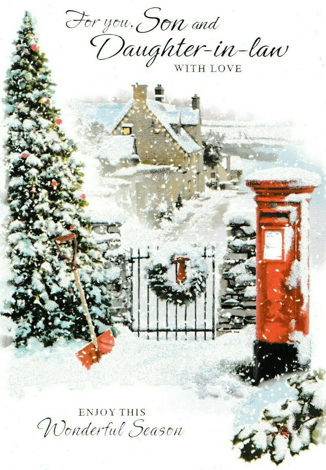 TRADITIONAL SON AND DAUGHTER-IN-LAW christmas card - 7 x cards to ...